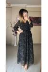Mini Çiçekli Şifon Elbise