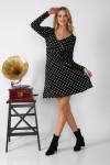 Kısa Puanlı Krep Elbise