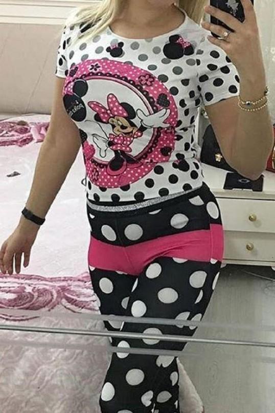 Mickey Mouse Scuba Tayt Takımı Beyaz