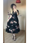 Kısa Kol Çiçekli Elbise