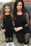 Anne Çocuk İncili İkili Eşofman Takımı