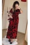 Kırmızı Çiçekli Elbise
