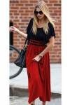 Kol Volanlı Alt Kırmızı Şifon Elbise