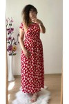 Kırmızı Papatya Elbise