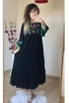 Kol Ucu Ponponlu Elbise