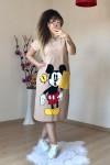Micky  Mouse Elbise Krem