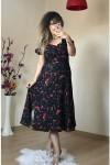 Siyah Yan Yırtmaçlı Elbise
