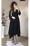 İspanyol Kol Etek Ucu Çapraz Elbise